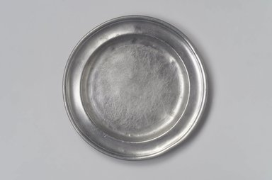 Samuel Danforth. <em>Plate</em>, 1795-1816. Pewter, 3/4 x 9 x 9 in. (1.9 x 22.9 x 22.9 cm). Brooklyn Museum, Designated Purchase Fund, 45.10.69. Creative Commons-BY (Photo: Brooklyn Museum, 45.10.69.jpg)