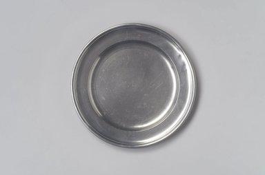 Samuel Danforth. <em>Plate</em>, 1795-1816. Pewter, 5/8 x 8 x 8 in. (1.6 x 20.3 x 20.3 cm). Brooklyn Museum, Designated Purchase Fund, 45.10.71. Creative Commons-BY (Photo: Brooklyn Museum, 45.10.71.jpg)