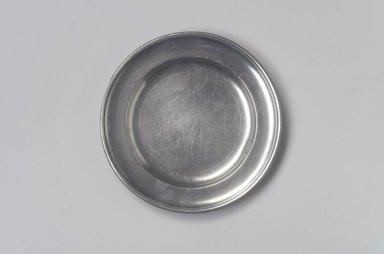 William Danforth. <em>Plate</em>, 1792-1820. Pewter, 3/4 x 8 x 8 in. (1.9 x 20.3 x 20.3 cm). Brooklyn Museum, Designated Purchase Fund, 45.10.76. Creative Commons-BY (Photo: Brooklyn Museum, 45.10.76.jpg)