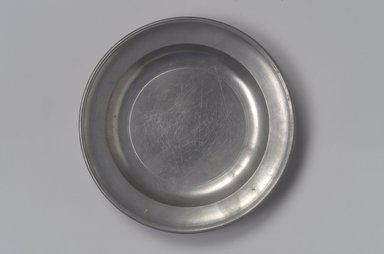 Thomas Danforth Boardman (American, 1784-1873). <em>Plate</em>, 1810-1830. Pewter, 3/4 x 6 1/8 x 6 1/8 in. (1.9 x 15.6 x 15.6 cm). Brooklyn Museum, Designated Purchase Fund, 45.10.79. Creative Commons-BY (Photo: Brooklyn Museum, 45.10.79.jpg)