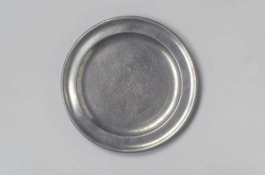Nathaniel Austin. <em>Plate</em>, 1763-1807. Pewter, 1/2 x 8 3/4 x 8 3/4 in. (1.3 x 22.2 x 22.2 cm). Brooklyn Museum, Designated Purchase Fund, 45.10.8. Creative Commons-BY (Photo: Brooklyn Museum, 45.10.8.jpg)