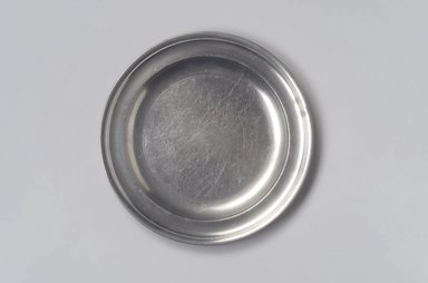 John Danforth. <em>Plate</em>, 1773-1793. Pewter, 3/4 x 8 3/8 x 8 3/8 in. (1.9 x 21.3 x 21.3 cm). Brooklyn Museum, Designated Purchase Fund, 45.10.82. Creative Commons-BY (Photo: Brooklyn Museum, 45.10.82.jpg)