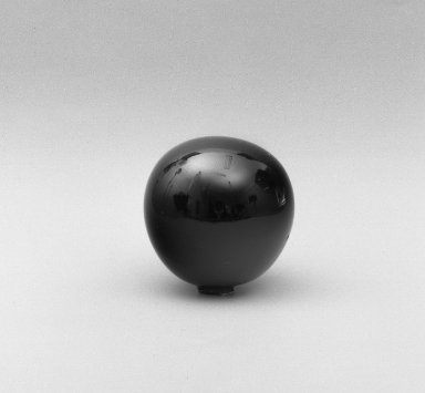 American. <em>Witch Ball or Cover</em>, 1880's. Glass, diam: 3 in. (7.6 cm). Brooklyn Museum, Dick S. Ramsay Fund, 45.143.17. Creative Commons-BY (Photo: Brooklyn Museum, 45.143.17_acetate_bw.jpg)