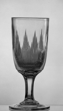 American. <em>Celery Stand</em>, ca. 1869. Glass, 8 1/2 x 4 in. (21.6 x 10.2 cm). Brooklyn Museum, Dick S. Ramsay Fund, 45.143.39. Creative Commons-BY (Photo: Brooklyn Museum, 45.143.39_acetate_bw.jpg)