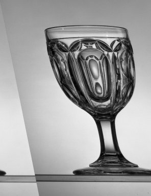 American. <em>Goblet</em>, ca. 1869. Glass, H: 6 in. (15.2 cm). Brooklyn Museum, Dick S. Ramsay Fund, 45.143.42. Creative Commons-BY (Photo: Brooklyn Museum, 45.143.42_acetate_bw.jpg)