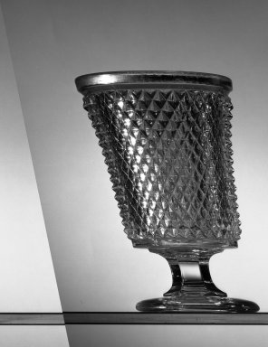 American. <em>Holder</em>, ca. 1869. Glass, H: 5 1/2 in. (14 cm). Brooklyn Museum, Dick S. Ramsay Fund, 45.143.44. Creative Commons-BY (Photo: Brooklyn Museum, 45.143.44_acetate_bw.jpg)