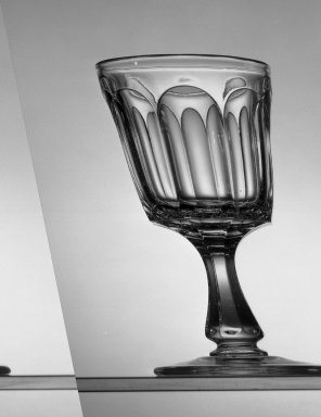 American. <em>Goblet</em>, ca. 1869. Glass, H: 6 in. (15.2 cm). Brooklyn Museum, Dick S. Ramsay Fund, 45.143.45. Creative Commons-BY (Photo: Brooklyn Museum, 45.143.45_acetate_bw.jpg)