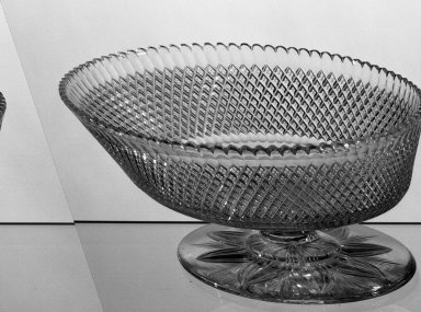American. <em>Compote</em>, ca. 1870-1880. Glass, 3 7/8 x 8 in. (9.8 x 20.3 cm). Brooklyn Museum, Dick S. Ramsay Fund, 45.143.5. Creative Commons-BY (Photo: Brooklyn Museum, 45.143.5_acetate_bw.jpg)