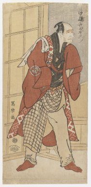 Toshusai Sharaku (Japanese, active 1794-1795). <em>Nakajima Wadaemon as Jizo, Offering His Life for a Land Owner</em>, Nov. 1794. Color woodblock print on paper, 12 3/4 x 6 in. (32.4 x 15.2 cm). Brooklyn Museum, Ella C. Woodward Memorial Fund, 45.158.2 (Photo: Brooklyn Museum, 45.158.2_IMLS_PS3.jpg)