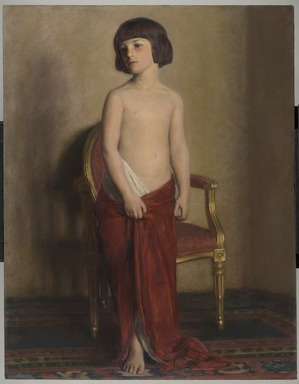 William Sergeant Kendall (American, 1869-1938). <em>A Statuette</em>, ca. 1914. Oil on canvas, 54 x 42 3/16 in. (137.2 x 107.1 cm). Brooklyn Museum, Gift of Mrs. William Sergeant Kendall, 45.165 (Photo: Brooklyn Museum, 45.165_PS6.jpg)