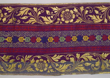 <em>Cover</em>, 19th or early 20th century. Silk, pigment, 13 × 89 9/16 in. (33 × 227.5 cm). Brooklyn Museum, Dick S. Ramsay Fund, 45.183.110. Creative Commons-BY (Photo: , 45.183.110_detail_PS9.jpg)