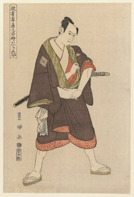 Utagawa Toyokuni I (Japanese, 1769-1825). <em>Ichikawa Yaozo (Tachibanaya)</em>, ca. 1795. Color woodblock print on paper, 14 5/8 x 9 7/8 in. (37.2 x 25.1 cm). Brooklyn Museum, Purchased with funds given by Louis V. Ledoux and Asian Art Department Funds, 45.37.3 (Photo: Brooklyn Museum, 45.37.3_IMLS_PS3.jpg)
