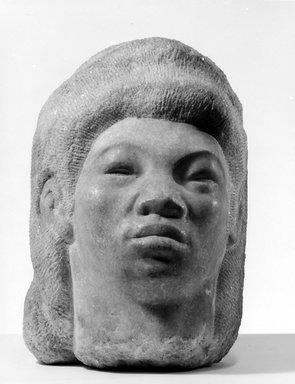 Harry Levine (American, born Russia, 1893-1945). <em>Head of A Girl</em>. Granite, height: 15 in. (38.1 cm). Brooklyn Museum, Gift of the Educational Alliance Art School, 45.67.2. © artist or artist's estate (Photo: Brooklyn Museum, 45.67.2_bw.jpg)