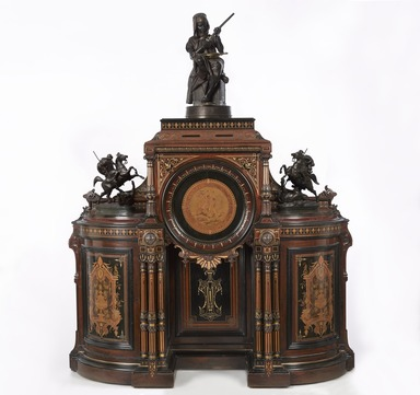 Kimbel and Cabus (1863-1882). <em>Cabinet</em>, ca. 1865-1875. Rosewood, other woods, gilt decoration, 62 1/2 x 19 1/4 x 68 in. (158.8 x 48.9 x 172.7 cm). Brooklyn Museum, Anonymous gift, 45.96. Creative Commons-BY (Photo: , 45.96_10.201_10.209_41.980.22_PS9_.jpg)