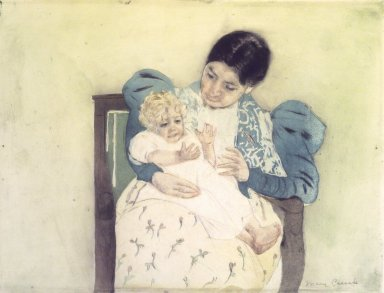 Mary Cassatt (American, 1844-1926). <em>The Barefooted Child</em>, ca. 1896-1897. Color print with drypoint and aquatint on cream, medium thick, moderately textured laid paper, Sheet: 13 1/8 x 16 15/16 in. (33.3 x 43 cm). Brooklyn Museum, Bequest of Mary T. Cockcroft, 46.103 (Photo: Brooklyn Museum, 46.103.jpg)