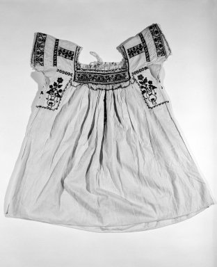 <em>Girl's Dress</em>. Cotton Brooklyn Museum, Gift of Emil Johnson, 46.145.2. Creative Commons-BY (Photo: Brooklyn Museum, 46.145.2_bw.jpg)
