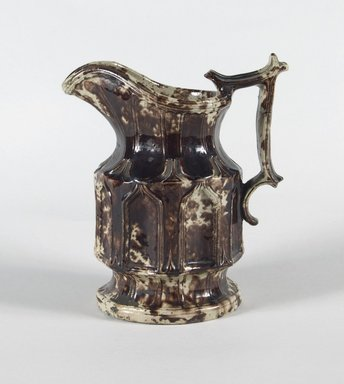 American. <em>Pitcher</em>, 1825-1890. Stoneware, 7 5/8 in. (19.4 cm). Brooklyn Museum, Museum Collection Fund, 46.166. Creative Commons-BY (Photo: Brooklyn Museum, 46.166_PS5.jpg)