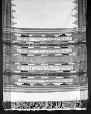 <em>Room Divider?</em>, 19th century. Cotton, 192 x 43 7/8 in.  (487.7 x 111.4 cm). Brooklyn Museum, Gift of Pratt Institute, 46.189.35. Creative Commons-BY (Photo: Brooklyn Museum, 46.189.35_bw.jpg)