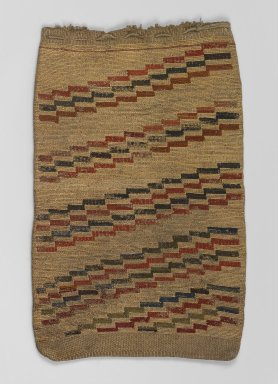 Nez Perce. <em>Woven Bag</em>, late 19th or early 20th century. Grass, wool, 21 7/8 x 13 9/16 in. (55.6 x 34.4 cm). Brooklyn Museum, Charles Stewart Smith Memorial Fund, 46.193.3. Creative Commons-BY (Photo: Brooklyn Museum, 46.193.3_PS1.jpg)