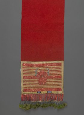 Sioux (probably). <em>Breechcloth</em>, 20th century. Flannel, metal, glass beads, quills, silk, 145 x 31 cm / 57 x 12 1/4 in. Brooklyn Museum, Henry L. Batterman Fund, 46.78.2. Creative Commons-BY (Photo: Brooklyn Museum, 46.78.2_PS2.jpg)