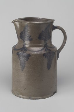 Benedick C. Milburn. <em>Pitcher</em>, 1841-1846. Stoneware, 10 1/4 x 7 7/8 x 6 5/8 in. (26 x 20 x 16.8 cm). Brooklyn Museum, Gift of Arthur W. Clement, 47.1.8. Creative Commons-BY (Photo: Brooklyn Museum, 47.1.8.jpg)