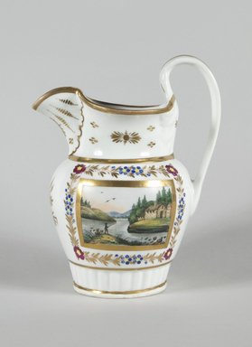 Tucker and Hemphill. <em>Pitcher</em>, 1833-1836. Porcelain, Height: 9 5/16 in. (23.7 cm). Brooklyn Museum, Brooklyn Museum Collection, 47.145. Creative Commons-BY (Photo: Brooklyn Museum, 47.145_PS5.jpg)
