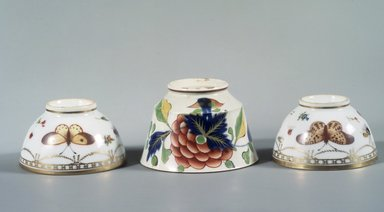 Copy of Meissen Porcelain Factory (German, founded 1710). <em>Tea Bowl: Part of 17-Piece Tea Service</em>, ca. 1825-1830. Porcelain, height: 2 in. Brooklyn Museum, Gift of Susan D. Bliss, 47.210.66. Creative Commons-BY (Photo: , 47.210.63_52.93.18d_47.210.66.jpg)