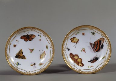 Copy of Meissen Porcelain Factory (German, founded 1710). <em>Saucer: Part of 17-Piece Tea Service</em>, ca. 1825-1830. Porcelain, height: 1 1/4 in. Brooklyn Museum, Gift of Susan D. Bliss, 47.210.71. Creative Commons-BY (Photo: , 47.210.71_47.210.72_SL4.jpg)