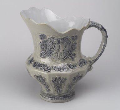 American. <em>Pitcher</em>, 19th century. Stoneware, 9 3/4 x 9 1/2 x 6 1/2 in. (24.8 x 24.1 x 16.5 cm). Brooklyn Museum, Gift of Mrs. Willard C. Brinton, 47.30.2. Creative Commons-BY (Photo: Brooklyn Museum, 47.30.2.jpg)