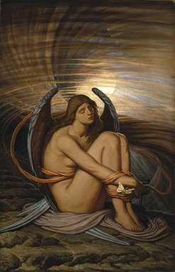 Elihu Vedder (American, 1836-1923). <em>Soul in Bondage</em>, 1891-1892. Oil on canvas, 37 13/16 x 24 in. (96.1 x 60.9 cm). Brooklyn Museum, Gift of Mrs. Harold G. Henderson, 47.74 (Photo: Brooklyn Museum, 47.74_SL1.jpg)