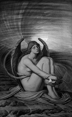 Elihu Vedder (American, 1836-1923). <em>Soul in Bondage</em>, 1891-1892. Oil on canvas, 37 13/16 x 24 in. (96.1 x 60.9 cm). Brooklyn Museum, Gift of Mrs. Harold G. Henderson, 47.74 (Photo: Brooklyn Museum, 47.74_bw.jpg)