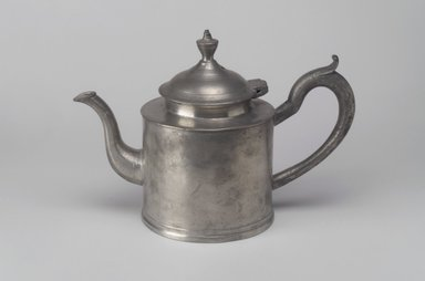 Timothy Brigden. <em>Teapot</em>, 1810-1815. Pewter, 6 3/4 x 9 7/8 x 4 3/4 in. (17.1 x 25.1 x 12.1 cm). Brooklyn Museum, Dick S. Ramsay Fund, 47.83.1. Creative Commons-BY (Photo: Brooklyn Museum, 47.83.1.jpg)