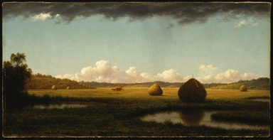 Martin Johnson Heade (American, 1819-1904). <em>Summer Showers</em>, ca. 1865-1870. Oil on canvas, frame: 21 1/8 x 34 1/4 x 3 in. (53.7 x 87 x 7.6 cm). Brooklyn Museum, Dick S. Ramsay Fund, 47.8 (Photo: Brooklyn Museum, 47.8_SL3.jpg)