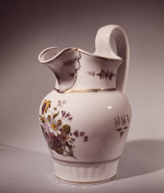 William Ellis Tucker (American, active 1826-1838). <em>Pitcher</em>, 1830. Porcelain Brooklyn Museum, Gift of Arthur W. Clement, 48.1.10. Creative Commons-BY (Photo: Brooklyn Museum, 48.1.10.jpg)