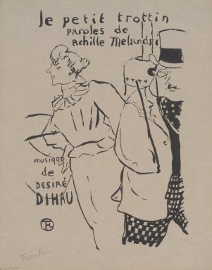 Henri de Toulouse-Lautrec (French, 1864-1901). <em>Le Petit Trottin</em>, 1893. Lithograph on Japan paper, 10 3/4 x 7 5/16 in. (27.3 x 18.6 cm). Brooklyn Museum, Henry L. Batterman Fund, 48.11.1 (Photo: Brooklyn Museum, 48.11.1.jpg)