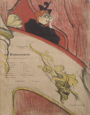 Henri de Toulouse-Lautrec (French, 1864-1901). <em>La Loge au Mascaron Dore</em>, 1893. Lithograph on wove paper, 12 1/16 x 9 1/2 in. (30.7 x 24.1 cm). Brooklyn Museum, Henry L. Batterman Fund, 48.11.2 (Photo: Brooklyn Museum, 48.11.2.jpg)