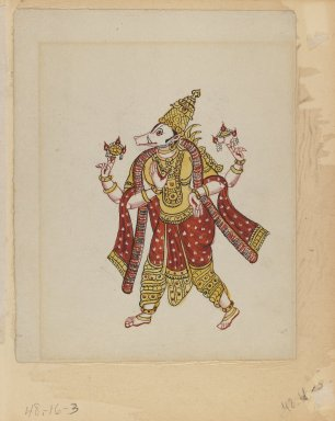 <em>One of Set of Nine Watercolors showing Indians in Different Professions</em>, 19th century. Watercolor on paper, 8 3/8 x 6 5/8 in.  (21.3 x 16.8 cm). Brooklyn Museum, Gift of Louis Loughlin, 48.16.3 (Photo: Brooklyn Museum, 48.16.3_IMLS_PS3.jpg)