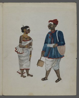 <em>One of Set of Nine Watercolors showing Indians in Different Professions</em>, 19th century. Watercolor on paper, 8 3/8 x 6 5/8 in.  (21.3 x 16.8 cm). Brooklyn Museum, Gift of Louis Loughlin, 48.16.4 (Photo: Brooklyn Museum, 48.16.4_recto_IMLS_PS3.jpg)