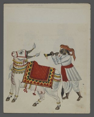 <em>One of Set of Nine Watercolors showing Indians in Different Professions</em>, 19th century. Watercolor on paper, 8 3/8 x 6 5/8 in.  (21.3 x 16.8 cm). Brooklyn Museum, Gift of Louis Loughlin, 48.16.5 (Photo: Brooklyn Museum, 48.16.5_recto_IMLS_PS3.jpg)