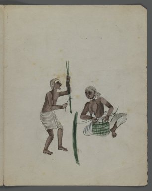 <em>One of Set of Nine Watercolors showing Indians in Different Professions</em>, 19th century. Watercolor on paper, 8 3/8 x 6 5/8 in.  (21.3 x 16.8 cm). Brooklyn Museum, Gift of Louis Loughlin, 48.16.7 (Photo: Brooklyn Museum, 48.16.7_recto_IMLS_PS3.jpg)