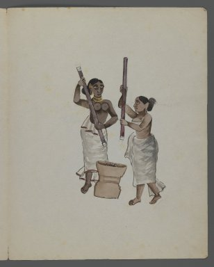 <em>One of Set of Nine Watercolors showing Indians in Different Professions</em>, 19th century. Watercolor on paper, 8 3/8 x 6 5/8 in.  (21.3 x 16.8 cm). Brooklyn Museum, Gift of Louis Loughlin, 48.16.8 (Photo: Brooklyn Museum, 48.16.8_recto_IMLS_PS3.jpg)