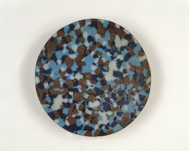 <em>Circular Dish</em>, ca. 1390-1353 B.C.E. Glass, 11/16 x 1 x 4 1/8 in. (1.8 x 2.5 x 10.5 cm). Brooklyn Museum, Charles Edwin Wilbour Fund, 48.162. Creative Commons-BY (Photo: Brooklyn Museum, 48.162_SL1.jpg)