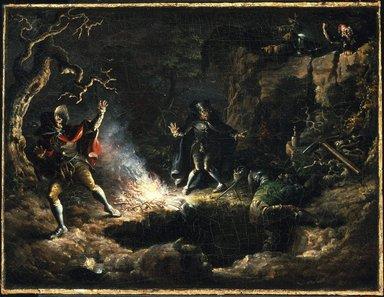 John Quidor (American, 1801-1881). <em>The Money Diggers</em>, 1832. Oil on canvas, 15 15/16 x 20 15/16 in. (40.5 x 53.2 cm). Brooklyn Museum, Gift of Mr. and Mrs. Alastair Bradley Martin, 48.171 (Photo: Brooklyn Museum, 48.171_SL1.jpg)