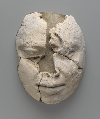 <em>Mummy Mask</em>, ca. 2500-2170 B.C.E. Plaster, Lips: 1 1/8 x 4 1/4 x 4 3/4 in. (2.9 x 10.8 x 12 cm). Brooklyn Museum, Charles Edwin Wilbour Fund, 48.183a-d. Creative Commons-BY (Photo: Brooklyn Museum, 48.183_PS6.jpg)