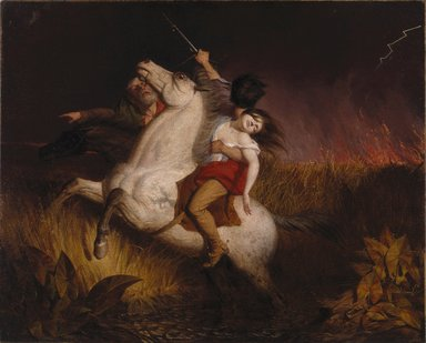 Charles Deas (American, 1818-1867). <em>Prairie on Fire</em>, 1847. Oil on canvas, 28 3/4 x 35 15/16 in. (73 x 91.3 cm). Brooklyn Museum, Gift of Mr. and Mrs. Alastair B. Martin, the Guennol Collection, 48.195 (Photo: Brooklyn Museum, 48.195_SL1.jpg)
