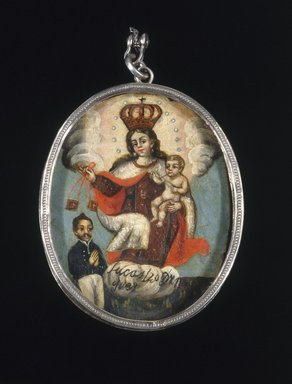 Unknown. <em>Painted Medallion in Locket Frame