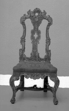 <em>Side Chair</em>, 18th century. Walnut, 44 1/2 x 20 1/4 x 17 3/4 in. (113 x 51.4 x 45.1 cm). Brooklyn Museum, Frank L. Babbott Fund, Frank Sherman Benson Fund, Carll H. de Silver Fund, A. Augustus Healy Fund, Caroline A.L. Pratt Fund, Charles Stewart Smith Memorial Fund, and Ella C. Woodward Memorial Fund, 48.206.46. Creative Commons-BY (Photo: Brooklyn Museum, 48.206.46_acetate_bw.jpg)