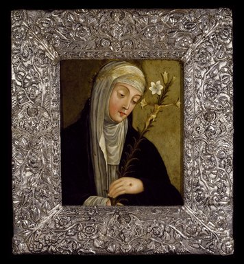Unknown. <em>Saint Catherine of Siena</em>, 17th century. Painting: Oil on copper