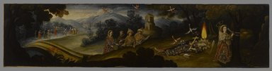 Cuzco School. <em>The Legend of Santa Sophronia</em>, late 17th century. Oil on canvas, 21 x 87in. (53.3 x 221cm). Brooklyn Museum, Frank L. Babbott Fund, Frank Sherman Benson Fund, Carll H. de Silver Fund, A. Augustus Healy Fund, Caroline A.L. Pratt Fund, Charles Stewart Smith Memorial Fund, and Ella C. Woodward Memorial Fund, 48.206.88 (Photo: Brooklyn Museum, 48.206.88_PS6.jpg)
