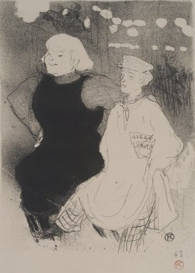 Henri de Toulouse-Lautrec (French, 1864-1901). <em>Au Moulin-Rouge: L'Union Franco-Russe</em>, 1894. Lithograph on heavy China paper, 13 x 9 3/4 in. (33 x 24.8 cm). Brooklyn Museum, By exchange, 48.209.3 (Photo: Brooklyn Museum, 48.209.3.jpg)